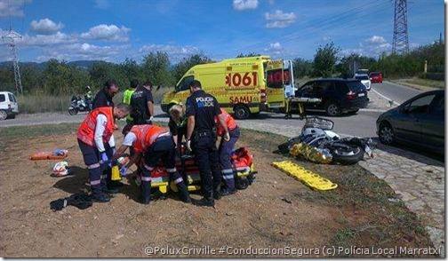 PoluxCriville-Policía-local-de-Marratxí-Europapress_es-PAS-moto-accidente-urgencias