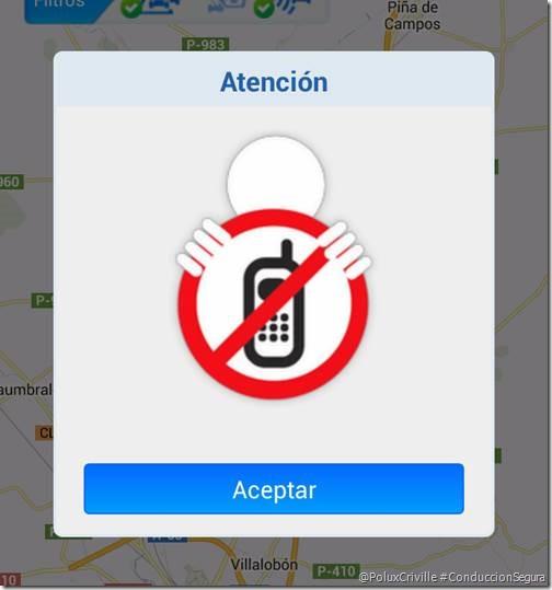 poluxcriville-dgt-app-android-trafico-circulacion-ruta-pantalla-advertencia-no-conducir-telefono