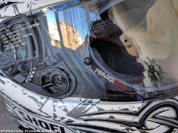 Cambio acolchado, visera y pinlock en mi casco Shoei XR1100